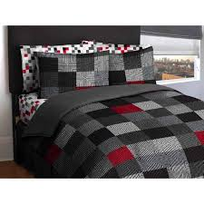 Duvet Comforter Set American Original Geo Blocks Bed In A Bag Bedding Comforter Set