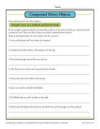 direct object worksheets worksheets