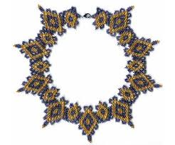 lace necklace pattern images Beginners pattern seed beaded lace necklace detailed instructions jpg
