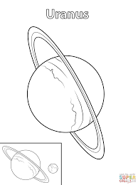 drawn planet uranus planet pencil and in color drawn planet