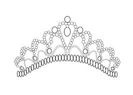 tiara coloring free coloring pages art coloring pages