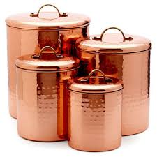 cool rustic copper and brass canisters rustic by vintageclothhouse