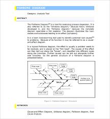 sample fishbone diagram template 12 free documents in pdf word
