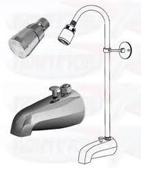 chrome bathtub diverter spout add a shower kit with shower riser