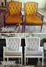 Grey And Yellow Chair A Vintage Cane Chair Pair Makeover In Grey Velvet The Diy Mommy
