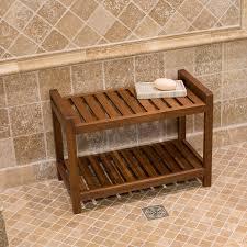Teak Corner Shower Caddy Amazon Com Belham Living Teak Shower Bench Home U0026 Kitchen