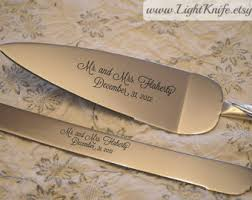 wedding cake knife set black engraved wedding cake knife and serving set two hearts