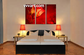 3 piece canvas red rose flower art bedroom wall decor scenery huge canvas 3 piece large canvas flower art