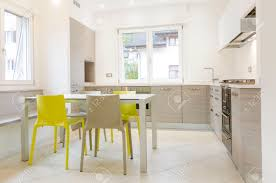 white and grey modern kitchen modern kitchen interior with wooden cabinets white table grey