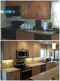 before and after gallery kitchen sales knoxville tn kemper lawton maple storm island countertops cambria praa sands hardware knobs jeffery alexander milan brushed pewter and handles regan brushed pewter