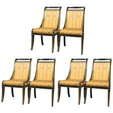 set of six ebony john stuart sable leg dining chairs in hollywood