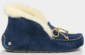 ugg moccasin slippers sale s alena moccasin navy blue slippers