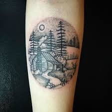 awesome picturesque landscape tattoo designs