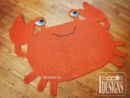 Crab Decorations For Home Cranky Crab Rug Nursery Mat Pdf Crochet Pattern Irarott Inc