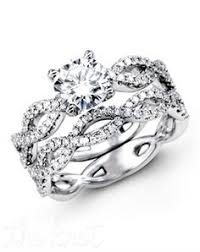 Engagement Rings And Wedding Bands by Infinity Engagement Ring And Matching Wedding Band The Kiss