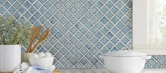 White And Blue Tiles In Bathroom Floor Tile U0026 Wall Tile You U0027ll Love Wayfair