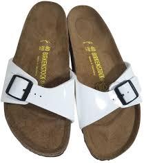 birkenstock white patent madrid birko flor sandals size us 9