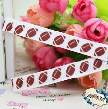 cheap ribbon for sale 3 8 football sport printed grosgrain ribbon hairbow diy party