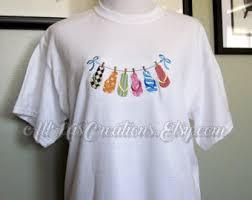 custom embroidery shirts flip flop shirt etsy