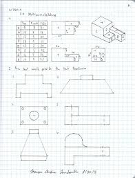 sketches for engineering multi view sketch www sketchesxo com