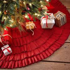 decorating burlap tree skirt with red skirt design ideas and