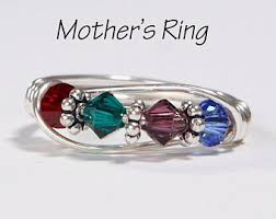 mothers rings with 4 stones 4 mothers ring etsy