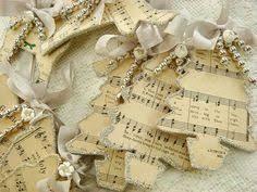 Sheet Music Christmas Tree Ornament by Vintage Christmas Ornaments With Old Sheet Music And