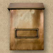 Beige Paint Exterior Beige Paint Wall With Iron Wall Mount Mailbox Plus White