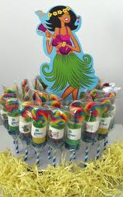 luau table centerpieces items similar to mini candy cabob kabob party centerpiece luau