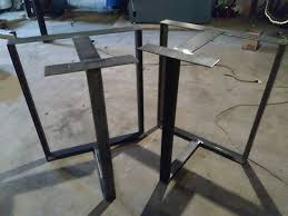 heavy duty table legs amazon com metal table legs t shaped heavy duty metal table base