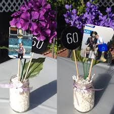 Candle Centerpieces For Birthday Parties by Table Centerpieces Mason Jars Birthday Decorations Mom U0027s 60th