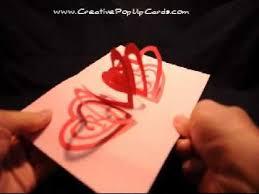 valentine u0027s day pop up card spiral heart crafting pinterest