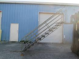 11 step steel mezzanine access stairs 36