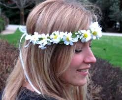 hippie hair accessories flower crown if your going to san fransisco wear flowers in