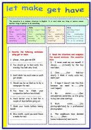 english teaching worksheets causative verbs
