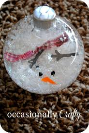 melted snowman ornament clear ornaments snow or shredded