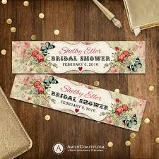 free bridal shower water bottle label template wedding