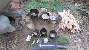 Camping Kitchen Setup Ideas by My Ultra Light Camp Cooking Youtube
