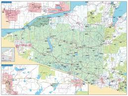 Michigan State Campus Map Michigan West Superior Bike Map Maplets