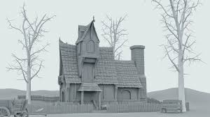 haunted house haunted houses 3ds max and art styles