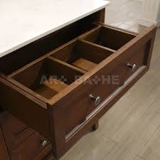 55 Inch Bathroom Vanity by Art Bathe Lily 55 Inch Contemporary Bathroom Vanity Cherry Finish