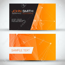 Abstract Business Cards Orange Modern Abstract Business Card Set Eps10 Vector Design