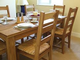 dining chairs indiana oak dining table and 6 black midback