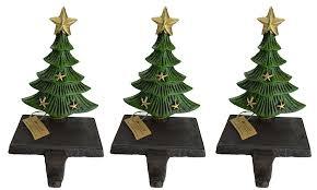 lulu decor cast iron decorative christmas tree stocking holder