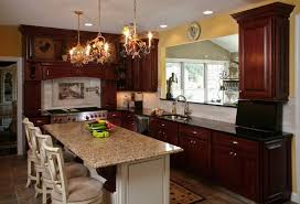 blue kitchen cabinets with granite countertops what granite countertop color looks best with cherry cabinets