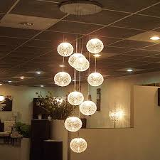 Glass Globe Ceiling Light Fixture Modern Large Led Chandeliers Stair Globe Glass Ceiling