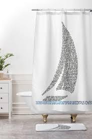 Sailboat Shower Curtains Restudio Designs Shower Curtains Deny Designs