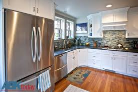 kitchen cabinet white cabinets and white subway tile liberty