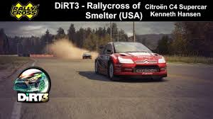 citroen usa dirt3 rallycross smelter citroën c4 supercar kenneth hansen