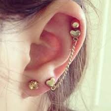 cartilage piercing earrings go stylish and bold with piercing earrings to express unique